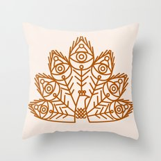 Cosmic Peacock Throw Pillow