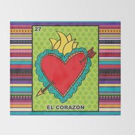 El Corazon Throw Blanket