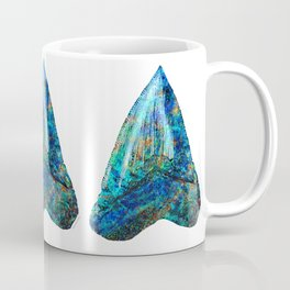 Blue Shark Tooth Art by Sharon Cummings Coffee Mug