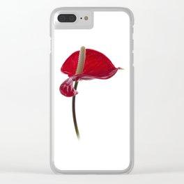 Anthurium - 2 Clear iPhone Case