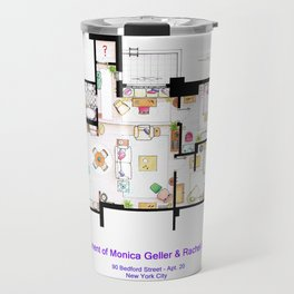 Apartment of Monica and Rachel from FRIENDS Travel Mug