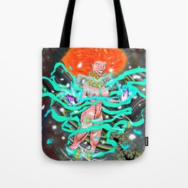 Tripping Through the Dimensions Tote Bag