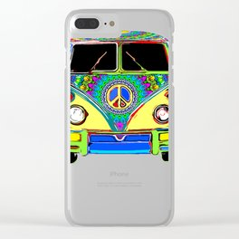 Peace Bus - Psychedelic Clear iPhone Case