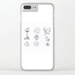 Halloween Themed Illustration Clear iPhone Case