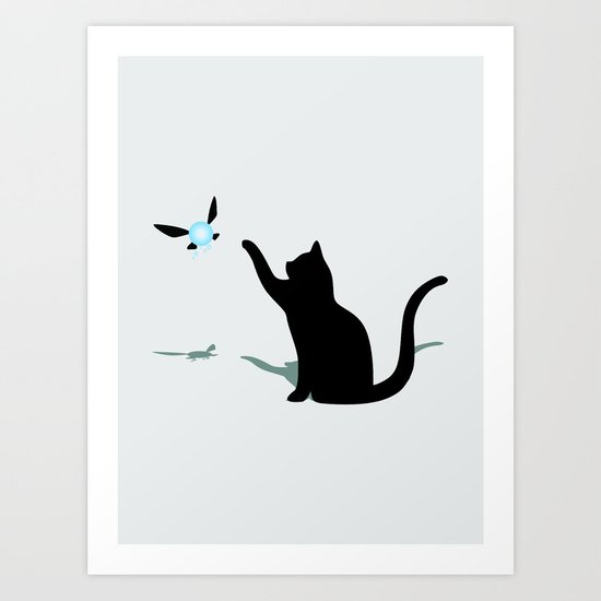 Cat and Navi Art Print
