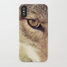 In the eyes of the Coyote iPhone Case