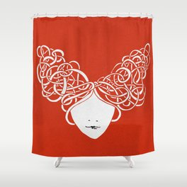 Iconia Girls - Isabella Red Shower Curtain