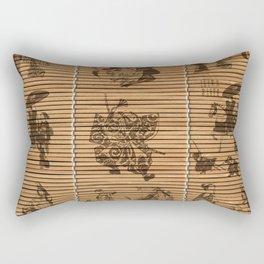graceful Bamboo Look Custom pattern geisha samurai Rectangular Pillow