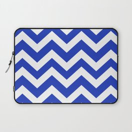 Persian blue - blue color - Zigzag Chevron Pattern Laptop Sleeve