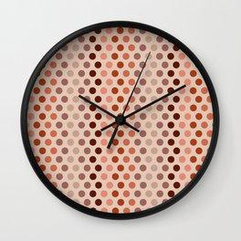 Emelina dots apricot Wall Clock