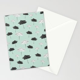 Umbrellas. Stationery Cards