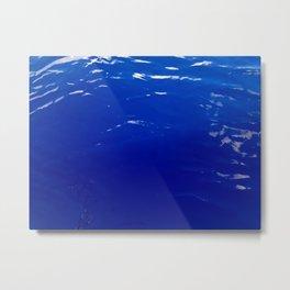 Neon Blue Ocean Metal Print