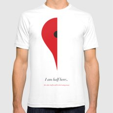 I Am Half Here... (the other half is still in bed eating toast) Mens Fitted Tee SMALL White