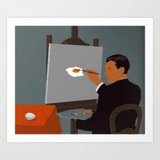 Magritte Remix Art Print