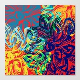 Flower Shadow Daydream Canvas Print