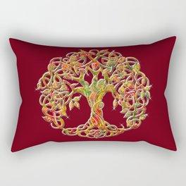 Tree of Life Maroon Rectangular Pillow