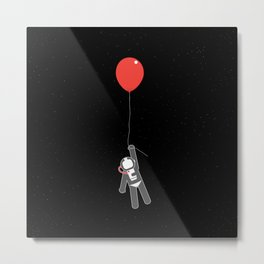 Astronaut balloon Metal Print