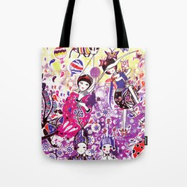 The case of purple spot sickness Tote Bag