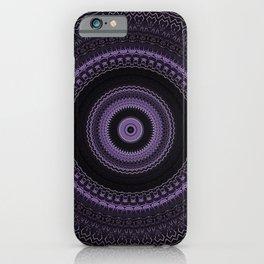 Royal Purple Mandala iPhone Case