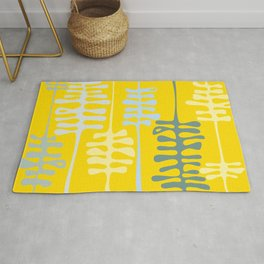 Abstract jungle - yellow Rug