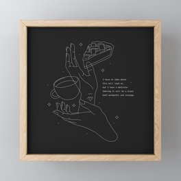 This must be where pies go when they die Framed Mini Art Print