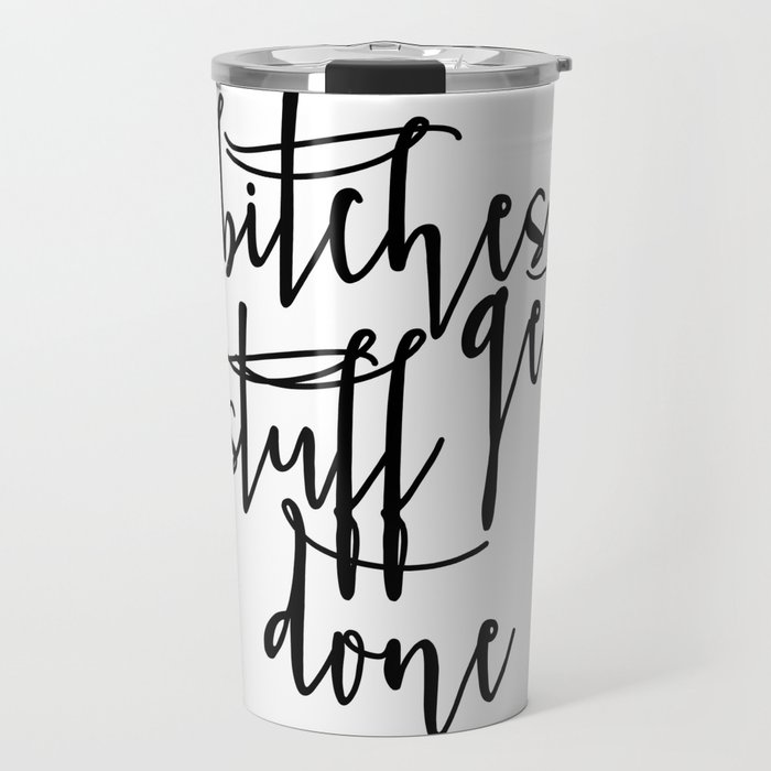 ff91e4838b9 Boss lady Bitches Get Stuff Done Tina Fey Quote Printable Art Office Decor  Office Wall Art Gift For Travel Mug