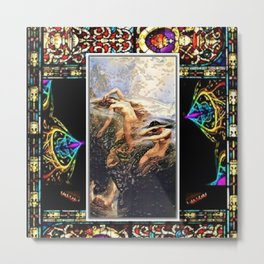 The Mountain Mists or Clyties of the Stained glass by Jéanpaul Ferro Metal Print