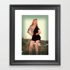 Glam. Framed Art Print