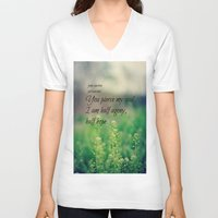 jane austen V-neck T-shirts featuring Agony and Hope Jane Austen by KimberosePhotography