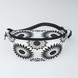 Black and white abstract pattern . 5 Fanny Pack