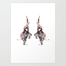 Dancing Elephants Art Print