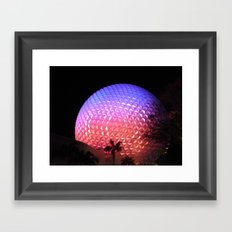 Spaceship Earth Framed Art Print