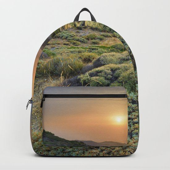 Summer Sunset At The Mountains Backpack