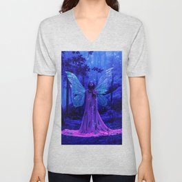 Fairy in a pink dress Unisex V-Neck