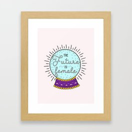 The Future Is Female Framed Art Print
