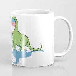 Trans Pride - Dino Love Coffee Mug