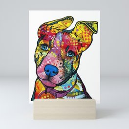 Colourful Pit Bulls, pit bull gift Mini Art Print