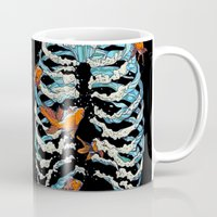 huebucket Mugs featuring FISH BONE  by Huebucket