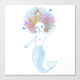 Coral the Mermaid Canvas Print