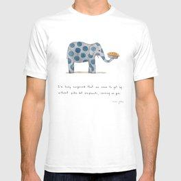 polka dot elephants serving us pie T-shirt