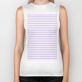 Modern lavender white trendy striped geometrical Biker Tank