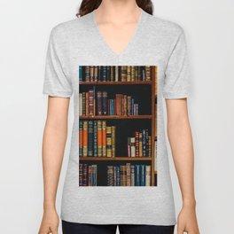 The Bookshelf (Color) Unisex V-Neck