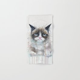 Angry Cat Hand & Bath Towel
