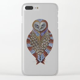 Owl Totem Clear iPhone Case