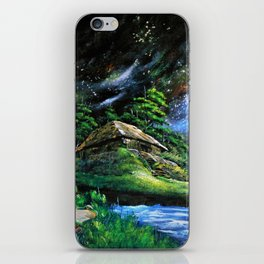 Abandoned houses, frogs and large galaxies iPhone Skin