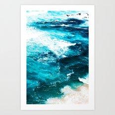 Sea Foam #society6 #decor #buyart Art Print