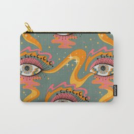 Cosmic Eye Retro 70s, 60s inspired psychedelic Carry-All Pouch