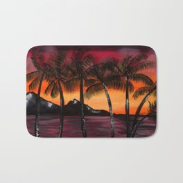 Hawaiian Tequila Sunrise 2 Bath Mat