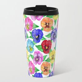 Beautiful & Bright Pansies  Travel Mug