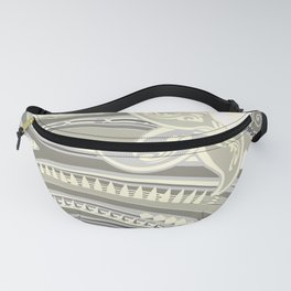 Polynesian Tribal Butter Yellow Threads Fanny Pack